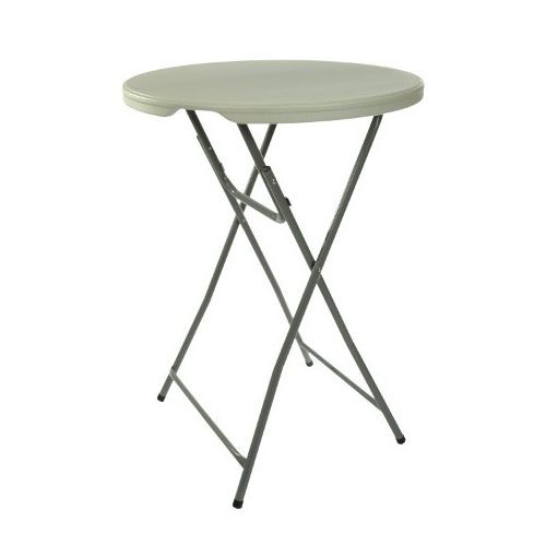 White Plastic Cocktail Round Table